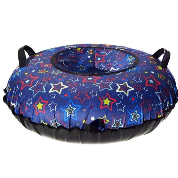 Тюбинг (Санки ватрушки) Звёзды на синем 100 см