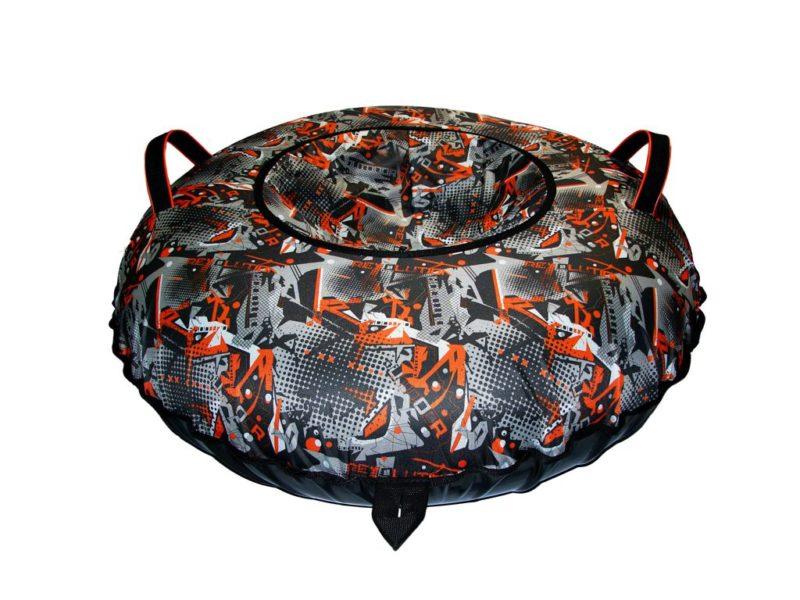 Тюбинг (Санки ватрушки) Undoor на чёрном 110 см