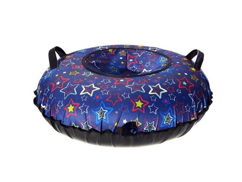 Тюбинг (Санки ватрушки) Звёзды на синем 110 см