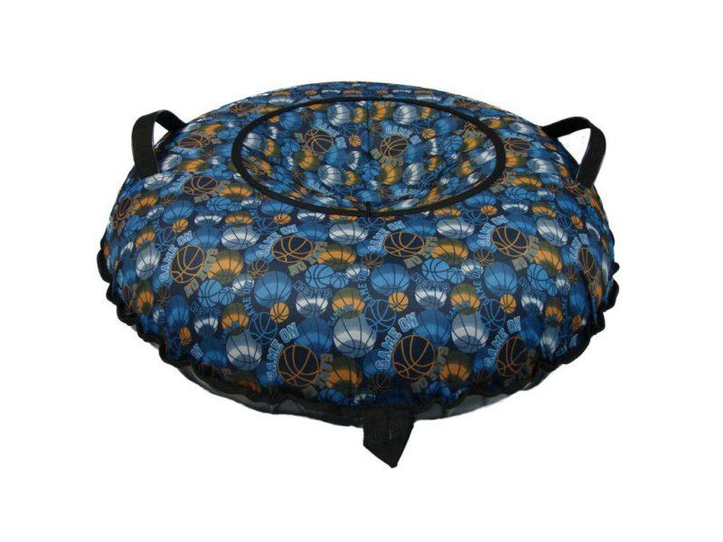 Тюбинг (Санки ватрушки) Мячи на синем 100 см