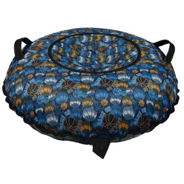 Тюбинг (Санки ватрушки) Мячи на синем 110 см